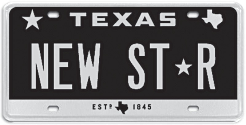 Theres A New Star On Texas License Plates Pleasanton Express