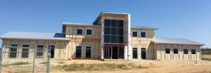 Current progress on Animal Control facility. NOEL WILKERSON HOLMES | PLEASANTON EXPRESS