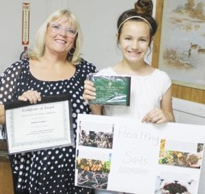 Home schooled sixth grader Abigail Kumaus won 1st Place in the poster contest in her age division. LEON ZABAVA | PLEASANTON EXPRESS
