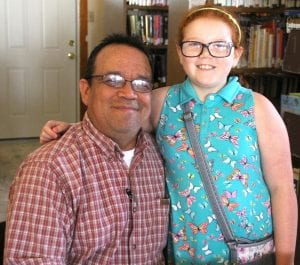 "Jeff Bray is pictured with his daughter, Audrey, who he wrote ""Elissa the Curious Snail"" for a while back."