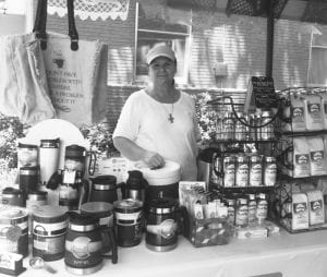 You can find Marie Nachman, owner of Live Oak Coffee Company at the market every Saturday. She's as faithful as clockwork! NOEL WILKERSON HOLMES | PLEASANTON EXPRESS