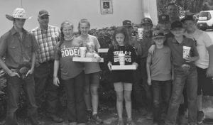 Pictured left to right, front row: Trace Bettice, McKenzie Lutz, Gretchen Caraway, Wake Kielman and Cross Ringelstein. Left to right, back row: Byron Bettice, Evelynn Caraway, Corgin King, Casper Ringelstein, Ely Rankin, Dale Rankin and Weston Eisenhauer. COURTESY PHOTO