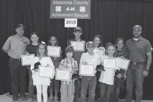 Leming-Verdi 4-H Club: (back row) Manager James Caraway, members Reese Royal, Emree Adamitz, Colby Fey, Evelyn Caraway, Brittany Rogers and Manager Carl Royal; (front row) Mallory Fey, Pearson Royal, Colton Parrish and Gretchen Caraway. COURTESY PHOTO