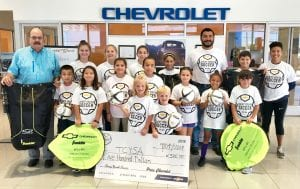 Pictured are: Harry Garza (General Manager), Megan Mayse, Naddie Brymer, Sarah Sharmin, Isabelle Valasquez, JR Jimenez (New Car Manager), Landon Alvarez, Erica Lopez, Case Leal, Abbe Alvarez, Emerie Lopez, Kimber Leal, Payton Garza, Kristen Lopez, Madeline Grollimund, Kyle Brymer and Ty Brymer. SHELBY CROSSLAND | COURTESY PHOTO