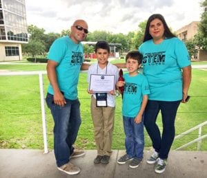 Pictured are Roman Lopez (dad), R.J. Lopez, Tony Lopez (brother) and Terrie Lopez (mom). The T-shirts were designed and kindly sponsored by BesTees'.
