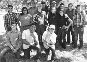 Pictured are members of the Charlotte FFA team who competed in the Area Fall CDE Contest last Wednesday. Standing left to right are Laurence Laurel, Danya Rodriguez, Joshua Reyna, Colton Pruett, Ray Luna, Kane Duran, Lucy Benavides, Michael Garcia Mia Herrada, Patrick Mchazlett and Jesus Jimenez. Kneeling are Anthony Romo, Brandon Sanchez and Angelo Mosqueda. ROY REYNA | CHARLOTTE AG INSTRUCTOR