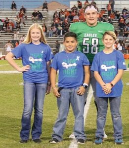 Type 1 Diabetes warriors honored: Libby Kemp, Alex Guerra, Hunter Norment and Max Wiggins.