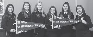 Pictured left to right: Karen Ortega, Hannah Watts, Jayci Kennedy, Natalie Michalec, Julia Smith and Kathlene Rodriguez CONTRIBUTED