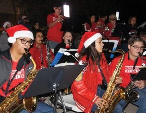 The Jourdanton High School Jazz Band performs for the crowd.