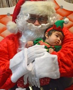 Two-monthold Rhiannon Rodriguez is decked out in red and green for the Christmas season. She is the daughter of Devinne and Emilio Rodriguez. JOE DAVID CORDOVA & LISA LUNA | PLEASANTON EXPRESS