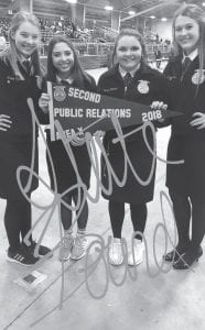 Pictured left to right are: Claire Vyvlecka, Jaylynn Valdez, Hunter Rankin, and Madison Yow CONTRIBUTED