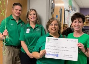 "Sixth and 7th grade STEM was awarded funds for their ""Light! Camera! Action!"" innovative grant. Pictured are Dr. Matthew Mann alongside junior high Principal Jennifer Garcia, Margie Mendez and Dawna Garvin. CONTRIBUTED PHOTO 