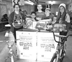 For the fourth year in a row, Atascosa County Veterans of Foreign Wars Post 4853 in Jourdanton coordinated the Toys for Tots program. Toys were delivered to the families on Saturday, Dec. 15.