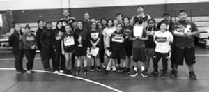 Pictured are the participants at the Charlotte Basketball Clinic