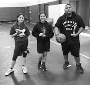 Three point winners pictured left to right: LLianna Romo, Marilyn Jade Brister and Javan Gomez.