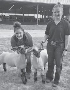 "Are you ready for the Atascosa County Livestock Show? These Jourdanton ISD students and FFA members are indeed ready. Featured (left to right) are Kimberly Mueller with her medium wool ""Blackie"", a senior at JHS and Kristin Mueller with her finewool cross ""Sam"", a sophomore. Both young ladies are daughters of Chris and Rebecca Mueller. Join them next week at the Atascosa County Showbarn, Jan. 14-19, Sale is Saturday, Jan. 19th. Show your support for these hardworking youth! CONTRIBUTED"