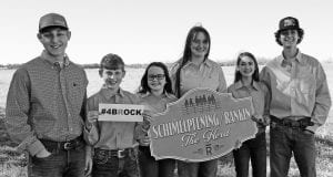 The Herd is made up of the Schimelpfening and Rankin families who are wearing orange in honor of Brock Powell at this year's ACLS. From left is Hunter S. Rankin, Chase Rankin, Skylar Schimelpfening, Sadie Schimelpfening, Brooke Rankin and Jake Rankin. Brock was Chase's best friend.