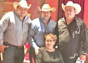 Richard, Adam and David Lee Garza pictured with their mother Barbara. PLEASANTON EXPRESS FILE PHOTO 2010