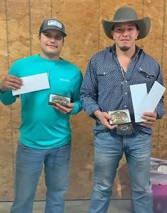 3RD PLACE Third Place winners were Tanner Jackson (heeler) and Emery Menchaca (header). PLEASANTON CHAMBER OF COMMERCE