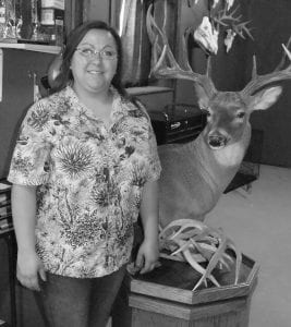 Daniella Pruett of PL Taxidermy donated two shoulder mounts for hunting contest prizes. TOM FIRME | PLEASANTON EXPRESS