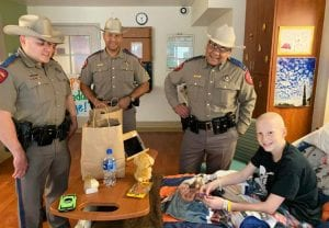 Atascosa County DPS Troopers featured left to right: Trooper Kenny Mata, Sergeant Deon Cockrell and Lt. Jason Reyes.