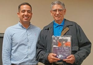 Senior Citizen Man of the Year was presented to Bob Byrd at the Pleasanton Chamber of Commerce Award Banquet by City of Pleasanton Parks and Recreation Event Coordinator Tony Aguirre. NOEL WILKERSON HOLMES | PLEASANTON EXPRESS
