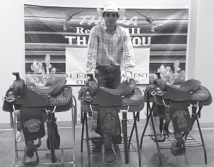 Cash Fretwell, senior at Pleasanton High School, competed in Region 8 Texas High School Rodeo Association. He was the 2019 All Around Cowboy, the Tie Down Roping Champion, Team Roping Header Champion and the reserve Cutting Champion. He will be competing in June at the State competition in Abilene. In the fall Cash plans to attend Weatherford Jr College and be a part of their rodeo team. CONTRIBUTED