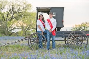 The 72nd Poteet Strawberry Festival Queen Hannah Grace Watts and King Cutter Blagg along with their court and the Strawberry Festival Association directors invite you to join them at the festival this weekend, April 5-7. J GARCIA