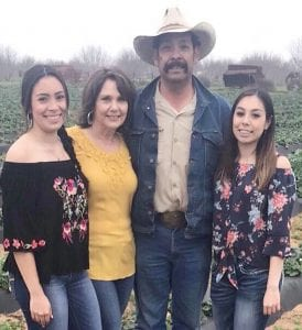 Lea, Irma, Leonard and Tessa Sanchez with Sanchez Farms, 210-415- 7316 CONTRIBUTED