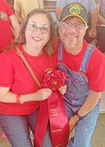 Reserve Grand Champion Strawberry winners, Lorena and Jose Dominguez of Strawberryville Farms. NOEL WILKERSON HOLMES | PLEASANTON EXPRESS