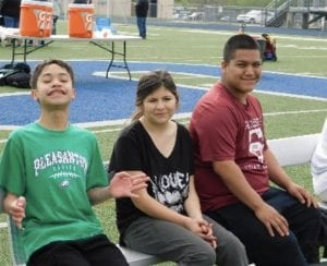 These local Special Olympics athletes invite the public to Friday's Atascosa McMullen Cooperative Special Olympics Track meet. This year the event will move to Jourdanton Indian Stadium. LISA LUNA | PLEASANTON EXPRESS