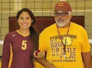 Coach Raimondi with his daughter, Gabriela Raimondi. Margaret Gallegos | Pleasanton Express