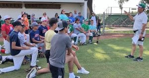 On Wednesday, June 12, Lance Standley resigned from Gregory-Portland as the 5A head baseball coach to take the position of head baseball coach in Pleasanton. The next evening, Standley met with players and parents in Pleasanton to introduce himself. Welcome Coach Standley! NOEL WILKERSON HOLMES   PLEASANTON EXPRESS