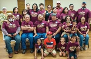 Family members from the Josefa Zuniga branch of the family gather for a photo.