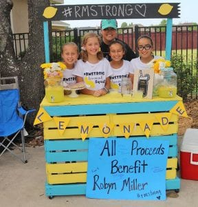 "From left, Claire Keylich, Presly Moos, Cianna Acevedo, Addison Perez, with Robyn Miller. A special thank you to ""Grandpa"" Edward and Maria Sanchez for the lemonade stand. COURTESY PHOTO 