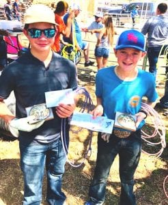 Congratulations to the Goat Roping winners Boomer Smith and Casper Ringlestein. YOUNG FARMERS | PLEASANTON EXPRESS