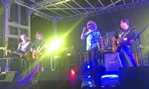 86'D will be the main entertainers on Saturday, Sept. 14 during the 54th Cowboy Homecoming Festival. The band is made up of PHS alumni, from left, Barry Milam, Randy Reed, John Mayse, JC Martinez and Richard Garcia. NOEL WILKERSON HOLMES | PLEASANTON EXPRESS