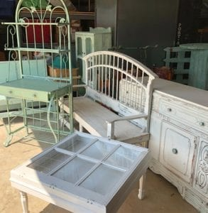 These are some of the pieces of shabby chic furniture to be featured at St. Matthew's auction.