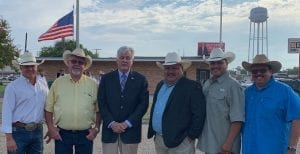 Atascosa County Commissioner Mark Gillespie (Pct. 1), Commissioner Kennard Riley (Pct. 4), County Judge Bob Hurley, Commissioner Eliseo Perez (Pct. 3), Justice of the Peace Orlando Carrasco (Pct. 3) and Justice of the Peace Felix Herrera (Pct. 1). NOEL WILKERSON HOLMES | PLEASANTON EXPRESS