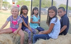Children enjoyed a hayride around the festival grounds. REBECCA PESQUEDA | PLEASANTON EXPRESS