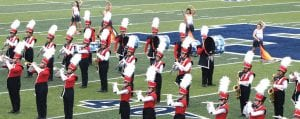 The Jourdanton Indian Band received a Division II rating at Saturday's marching contest. LISA LUNA   PLEASANTON EXPRESS