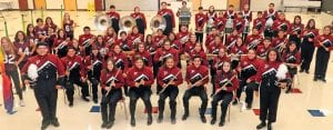 The Poteet Aggie Band received a Division II rating at the Hondo competition. COURTESY PHOTO