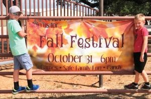 Levi Anderson and his brother, Ben, are excited about the Fall Festival next week at Cowboy Fellowship. LYNSE PAWELEK | COURTESY PHOTO