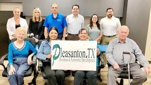 The City of Pleasanton has formed its very own Complete Count Committee (CCC) comprised of various entities to help promote the 2020 Census. Pictured, from left, front row are Christelle Troell, All Saints Episcopal Church/Pleasanton Express; Marilyn Vasquez, Pleasanton ISD; Dorothy Steelman, Pleasanton Library; and Wilbur Palmer, Pleasanton Lion's Club: back row are Janice Gonzalez, Pleasanton EMC Strategy Group; Cindy Mumm, Pleasanton Chamber of Commerce; Benito Tamez, Coastal Bend College; Richard Castanon, Census Representative; Rebecca Pesqueda, Pleasanton Express; and Ernie Gonzales, Pleasanton EMC Strategy Group. TABITHA GARZA | PLEASANTON PARKS & RECREATION