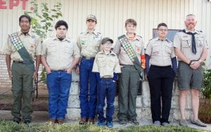 Boy Scouts with Troop 194 also took part in the ceremony. LISA LUNA   PLEASANTON EXPRESS