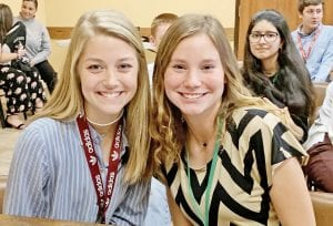 The prosecution team was made up of Brylee Miller and Riley Clyatt. REBECCA PESQUEDA | PLEASANTON EXPRESS