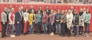 The Jourdanton Education Foundation formed and established its board members on Wednesday, Nov. 13. Pictured, back row are Tim Forrest, Jack Powell, Eric Kaiser, Katrina Wiatrek, Ralph Ayala, Audrey McCleary, Diana Seiffert, Jim Andrus and Cody Orr; front are Theresa McAllister, Stephanie Collins, Trace Blair, Michelle Klumb, Kari Vickers, Maggie Aguilar, Shellie Kaiser, Tiffiney Willmon, Clemente Galindo, Benita Muckleroy, Michele Higginbotham, Barbara Peeler, Amber Schorsch and Debra Swaim. Not pictured are Mike Castellano and Lori Steyn. COURTESY PHOTO