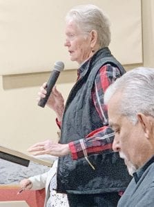 Gayle Johnson, Election Clerk for Justice of the Peace Precinct 2, express her sincere appreciation and thanks to Commissioners Court for approving county-wide voting. REBECCA PESQUEDA | PLEASANTON EXPRESS