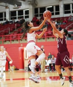 Joudanton's Vanessa Vacca goes up for a layup against Poteet. J GARCIA   COURTESY PHOTO