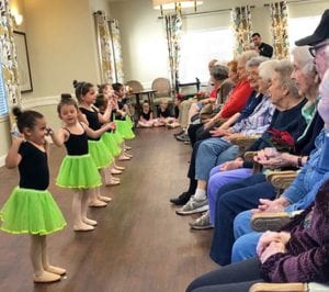 Argent Court residents were put into the holiday spirit with performances by Ms. Tera's Tap 'N Toes dancers.